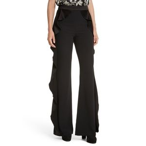 "Alice + Olivia ""Wallace"" Side Ruffle Pants - 12"
